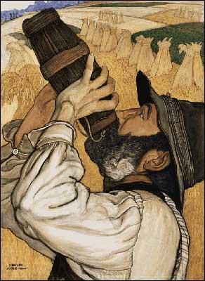Art Nouveau Paintings by Ernest Bieler Swiss Artist