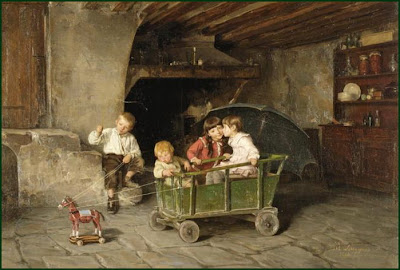 Charles-Bertrand d'Entraygues Children in Painting