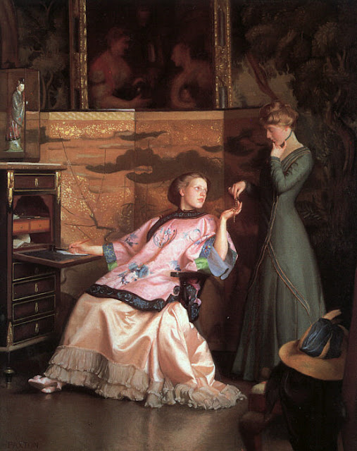 Women in Painting by Impressionist Artist William McGregor Paxton