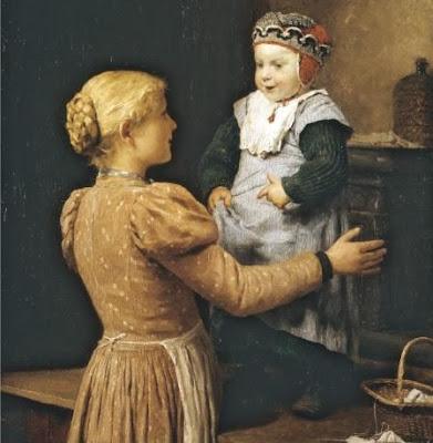 Painting by Swiss Artist Albert Anker