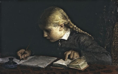 Genre Painting by Swiss Artist Albert Anker