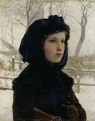 Portrait Painting by Swiss Artist Albert Anker