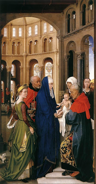 St Columba Altarpiece (right panel) by Belgian Renaissance Painter Rogier van der Weyden