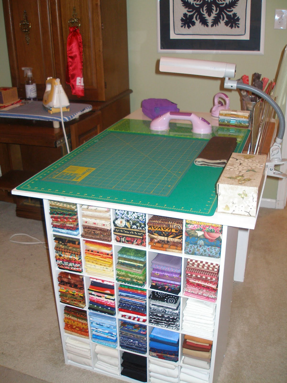 Quixotic Crafter Some Inexpensive Studio Furniture Ideas Necessity Is The Mother Of Invention