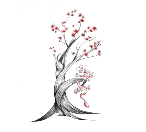 Celebrity wallpapers chinese cherry blossom tattoo for Chinese cherry blossom tattoo