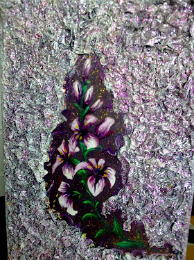 flores fundo en relevo
