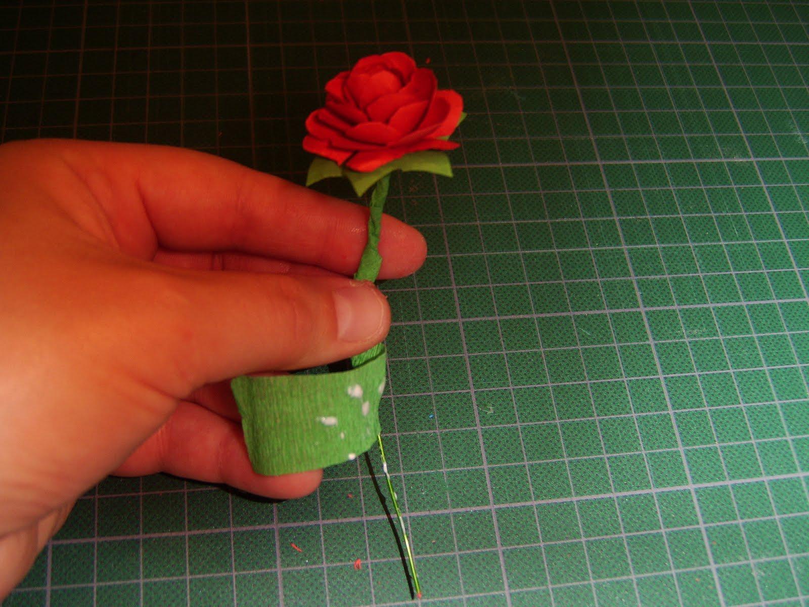 Роза из бумаги своими руками маленькие 62