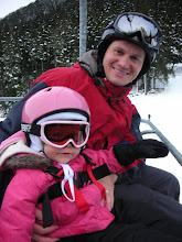 with dad on the chair lift