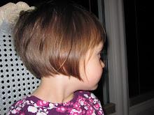 Lucy's haircut.