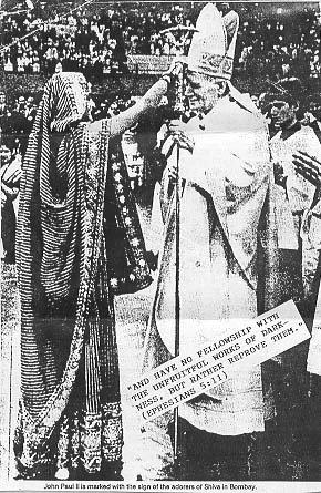 Papa João Paulo II recebe marca de Shiva