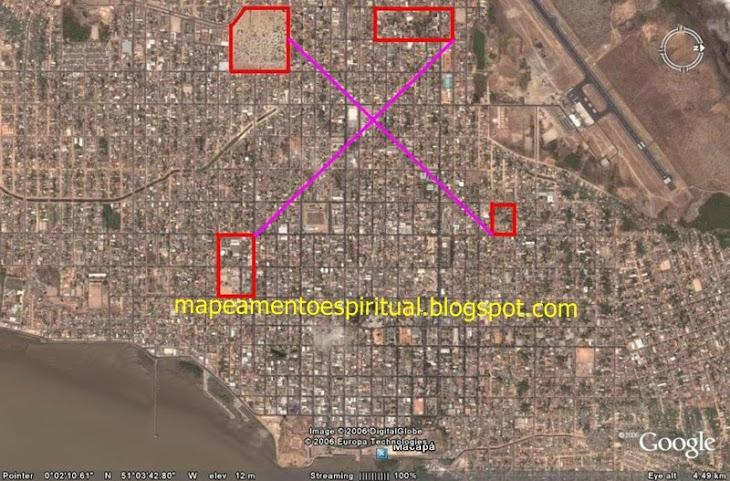 2 - Macapá (AP) - Ligando-se os principais locais de adoração católicos (igrejas e capelas)