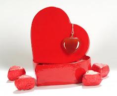 Akik Taşlı Kalp Kolye - Sevgililer Günü Özel