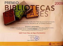 TERCEIRO PREMIO DE BOAS PRÁCTICAS EN BIBLIOTECAS ESCOLARES