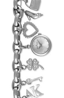 Macy's - Anne Klein Watch Womens Charm Style Bracelet 10-7604CHRM