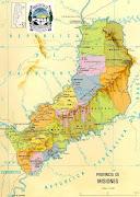Algunos nombres provinciales tienen curiosas y antiguas resonancias . mapa de la provincia argentina de misiones