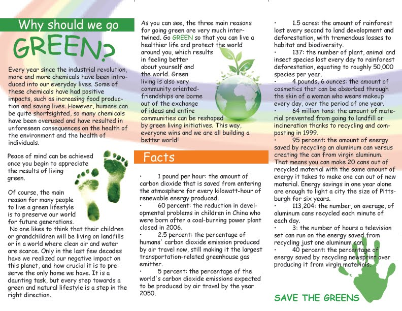 go green campaign essay Here given is an expert-written essay example on the topic of going green   there are various things people can go when going green that is easier than you .