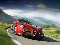 Alfa Romeo 8C Competizione Tela Papel Parede