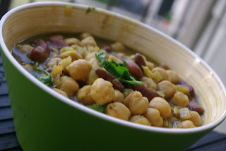 Sweet and Sour Chickpeas and Kidney Beans
