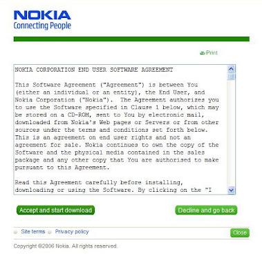Nokia N70 bluetooth agenda