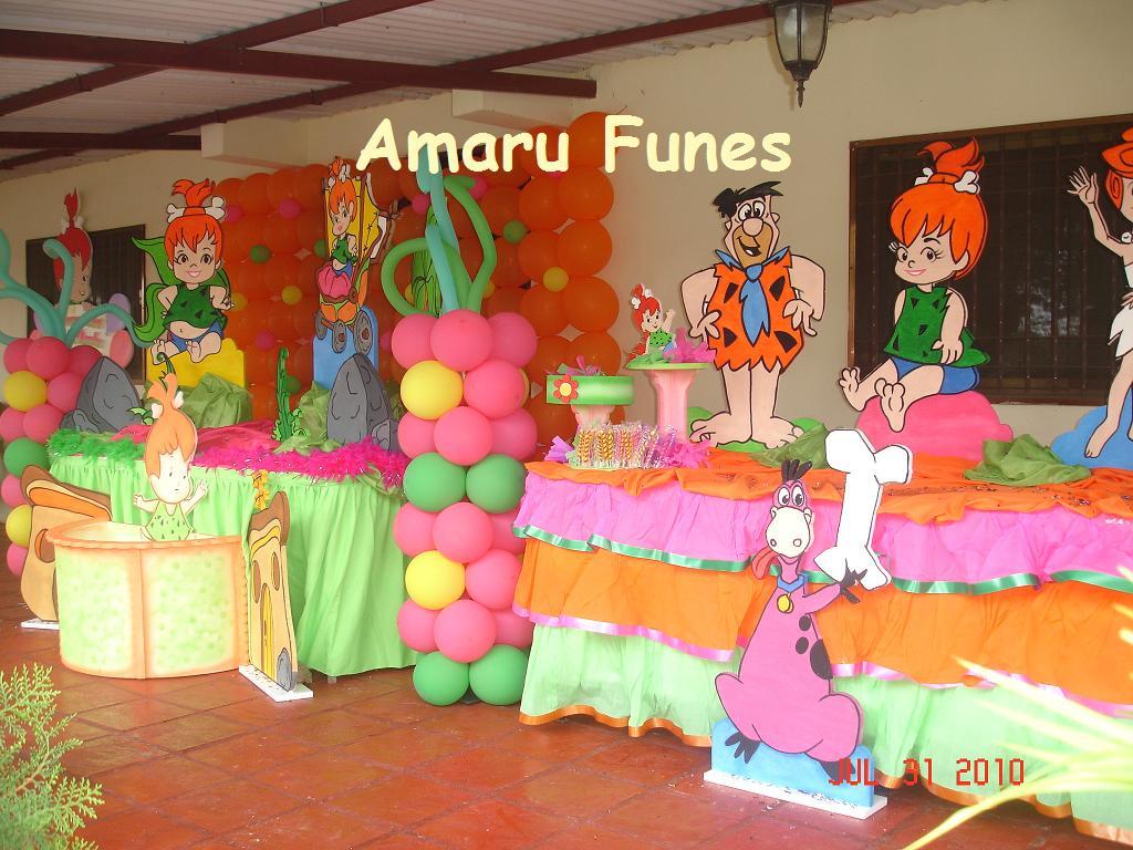 De Fiestas Infantiles Pebbles Picapiedra Graffiti Pelautscom