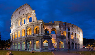 The Roman Colosseum (70 - 82 A.D.) Rome, Italy new seven wonders of the world