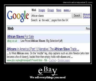 ebay sells african slaves google