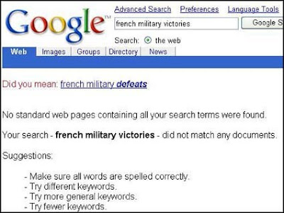 google french military defeats victories