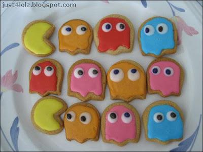 funny pacman cookies