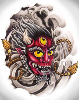 Japanese Tattoo, Tattoo Designs, Mask Tattoo, Hannya Mask Tattoos, Oni Tattoo, Japanese Mask Tattoos