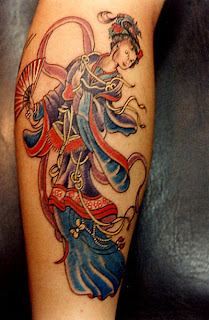 Japanese Tattoo, Geisha Tattoo, Calf Tattoo, Japanese Geisha Tattoos
