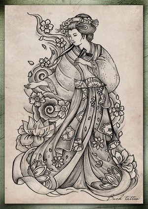Japanese Geisha Tattoo Design Picture 1
