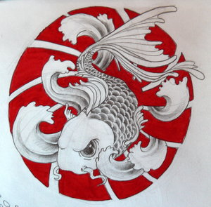 Japanese Koi Fish Tattoo Design Picture 1