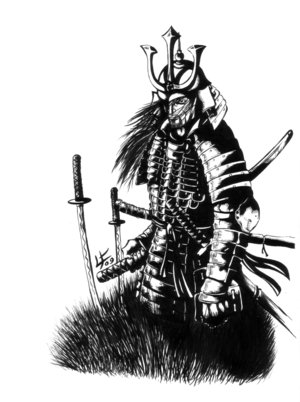 Free Japanese Samurai Tattoo Design Picture 4
