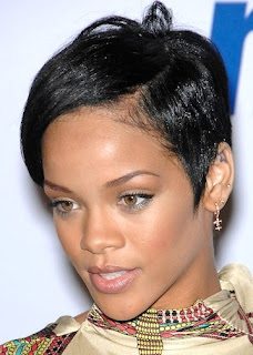Female Celebrity Hair Style With Black Short Hair Cut With Image Rihanna's Short Hairstyle Gallery Picture 5