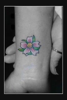 Cool Japanese Cherry Blossom Tattoo On Wrist Picture 1