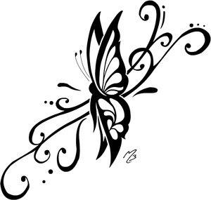 tribal butterfly