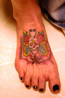 Picture Sexy Girls Tattoo With Foot Butterflies Tattoo Designs 2