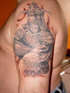 Shoulder Viking Tattoo Design 8