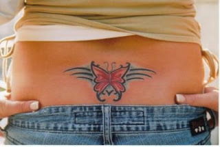 Lower Back Tattoos With Image Lower Back Butterfly Tattoo Designs With Butterfly Tribal Tattoo Picture 1