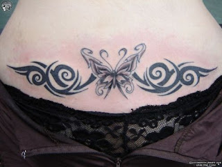 Butterfly Lower Back Tattoos-8