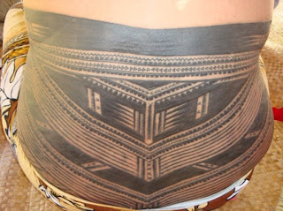 Lower Back Tribal Samoan Tattoo Design