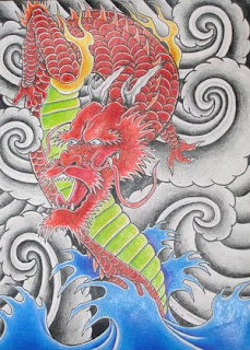 Traditional Japanese Dragon Tattoo Design 3
