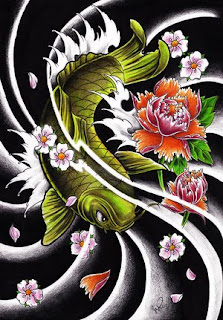 Traditional Japanese Koi Fish Tattoo Design 4
