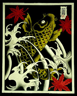 Traditional Japanese Koi Fish Tattoo Design 1