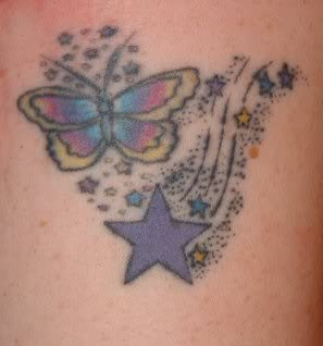 Butterflies And Stars Tattoo Designs Picture 2