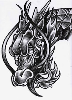 Beautiful Dragon Head Tattoo Designs 5