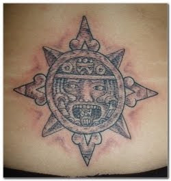 Lower Back Aztec Tattoo