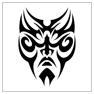 Tribal Mask Maori Tattoo Design