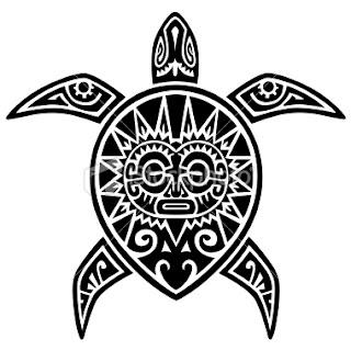 Maori Tribal Turtle  Tattoo Design
