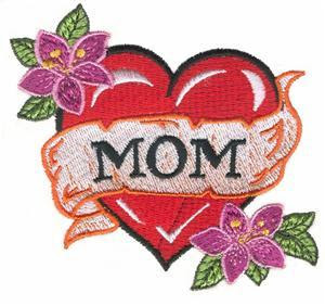 Love Mom Heart Tattoo Design